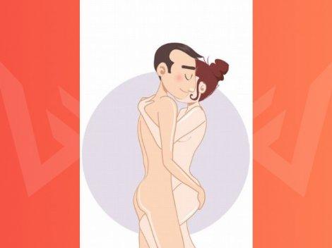 Поза для секса Танец: полюби большой размер партнера